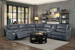 Falun Reclining Sectional in Grey