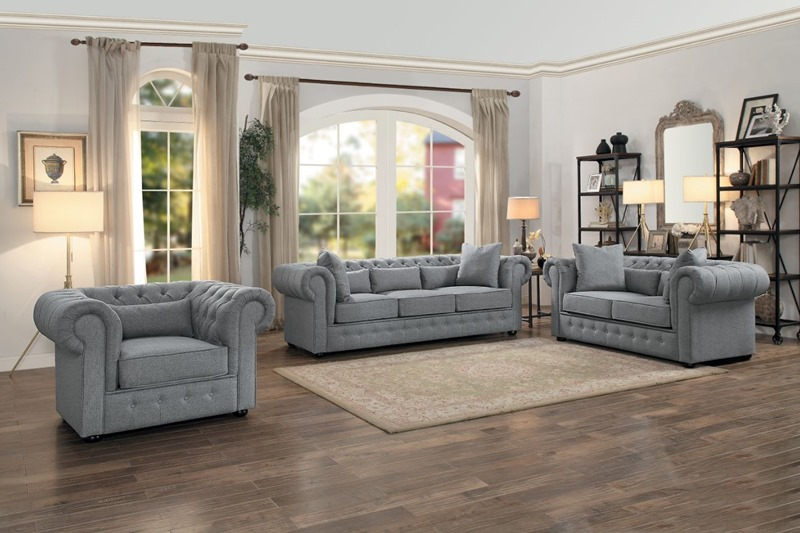 Savonburg Living Room Set in Gray