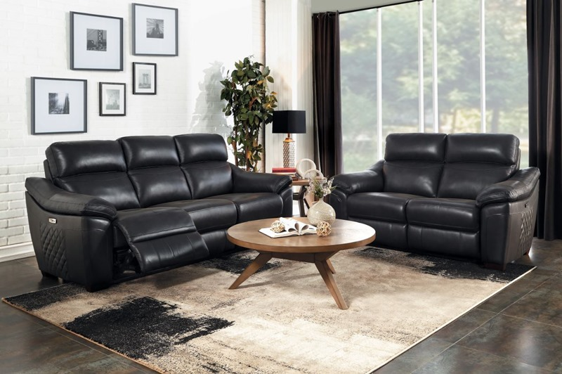 Renzo Reclining Leather Living Room Set