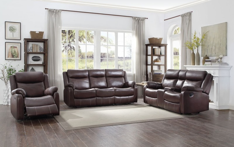 Yerba Reclining Living Room Set in Brown