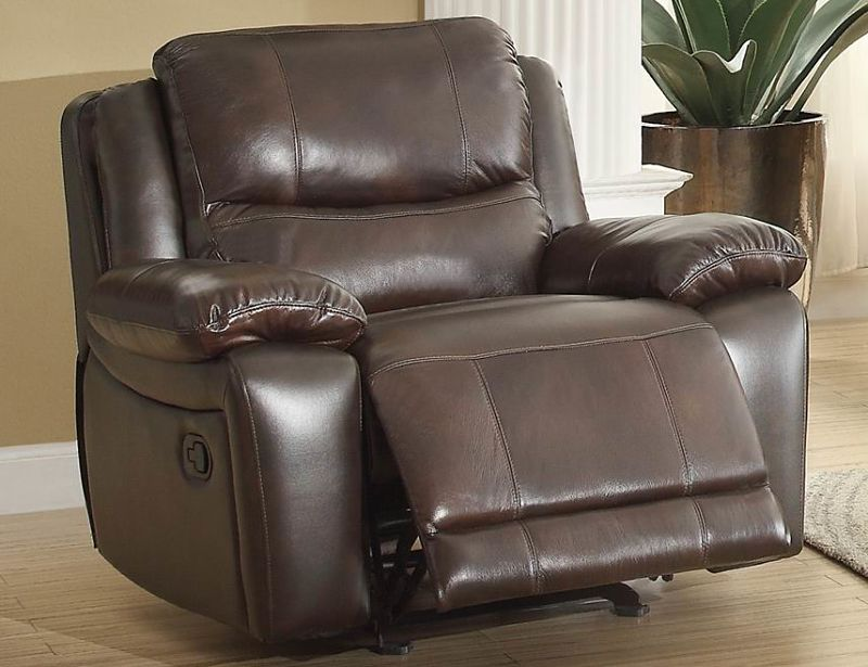 Dallas Designer Furniture Allenwood Reclining Leather Living Room Set
