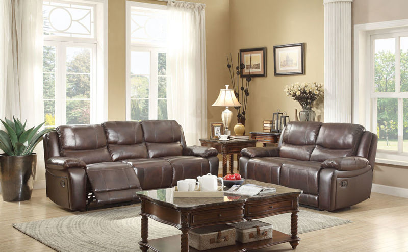 Allenwood Reclining Leather Living Room Set