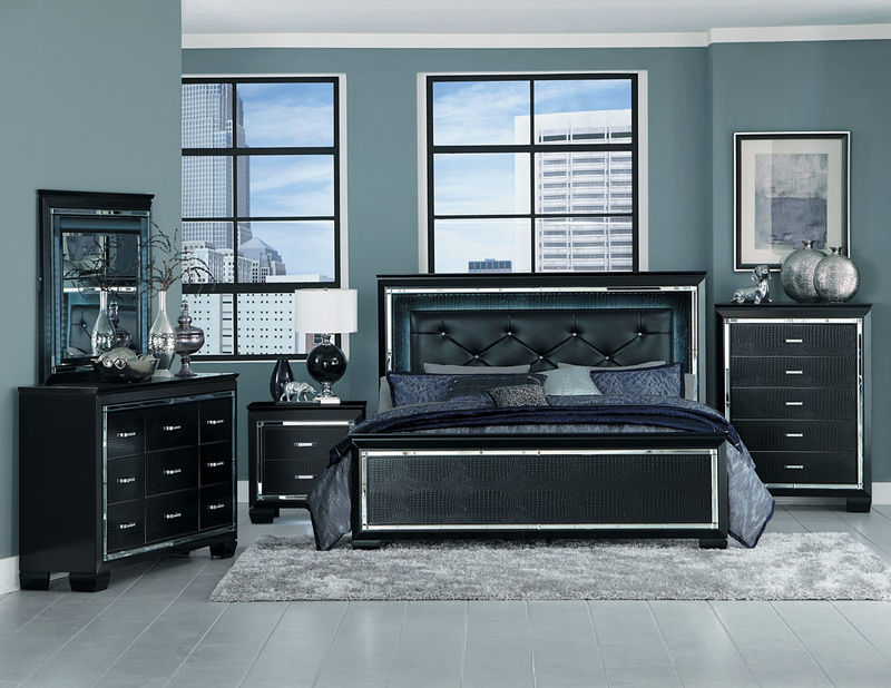 Allura Bedroom Set in Black