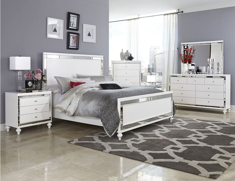dallas designer furniture oleta bedroom set in black