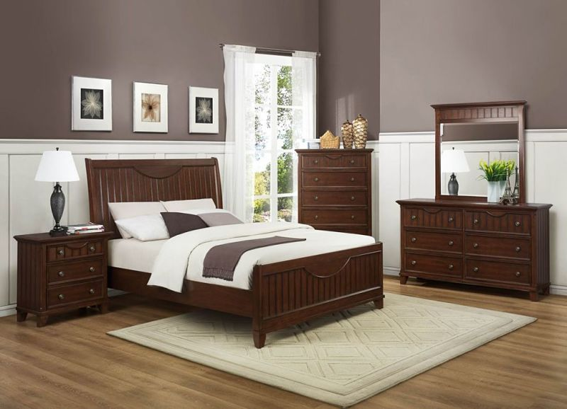 Alyssa Bedroom Set in Cherry