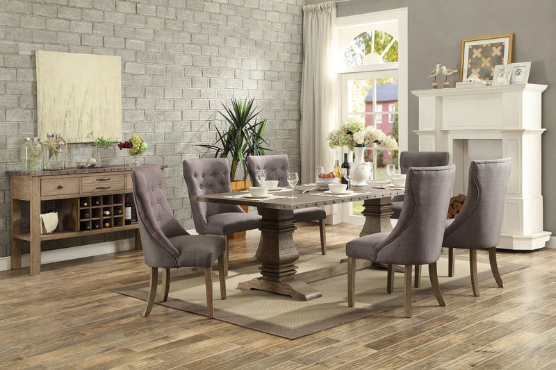 Anna Claire Formal Dining Room Set with Side Wing Chairs