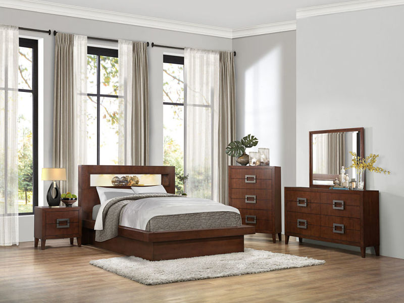 Arata Bedroom Set with Platform Bed and Mood Lighting