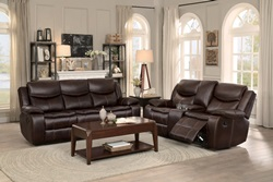 Bastrop Reclining Living Room Set in Brown