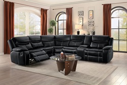 Bastrop Reclining Sectional in Black