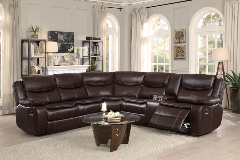 Bastrop Reclining Sectional in Brown