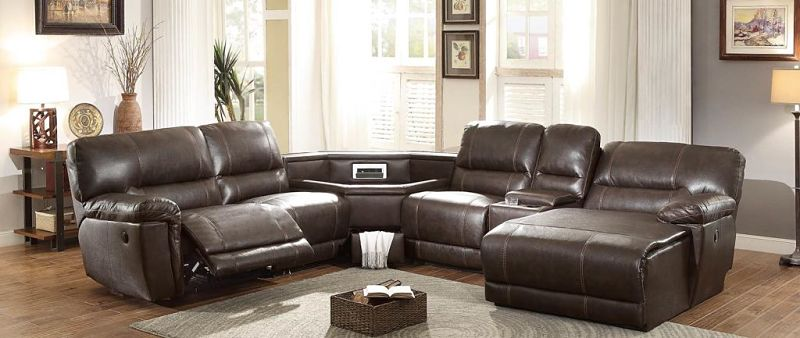 Blythe II Reclining Sectional with Storage Wedge
