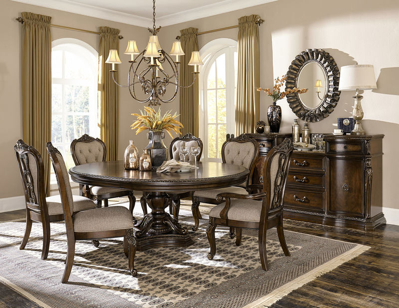 Homelegance | 1935-76 Bonaventure Park Formal Dining Room Set with Round to  Oval Table | Dallas Designer Furniture