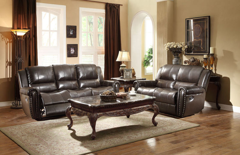 Bosworth Reclining Leather Living Room Set
