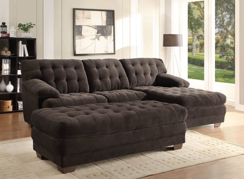Brooks Sectional in Microfiber