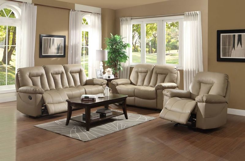 Cade Reclining Leather Living Room Set