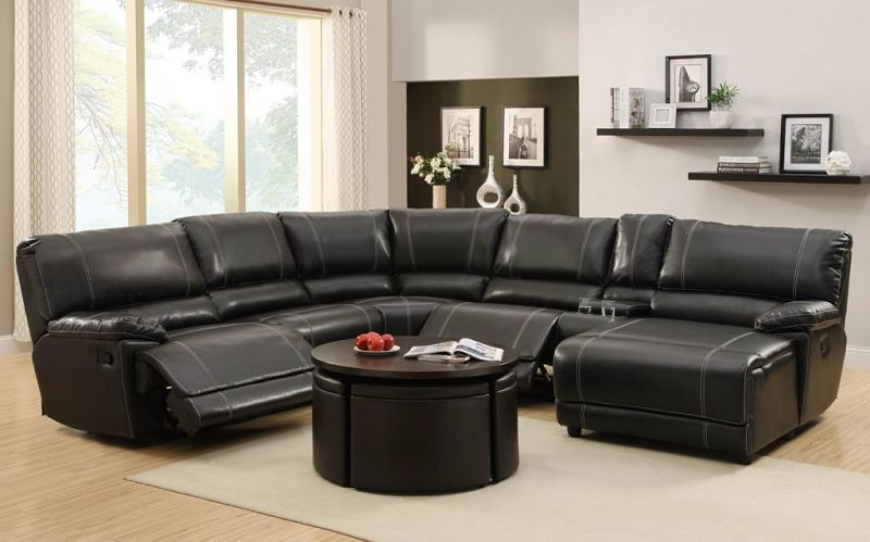 Cale Reclining Leather Sectional