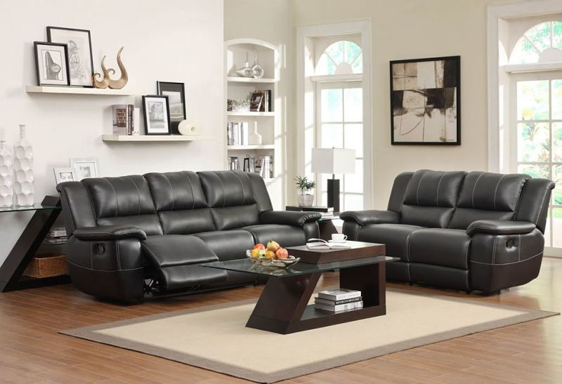 Cantrell Reclining Leather Living Room Set
