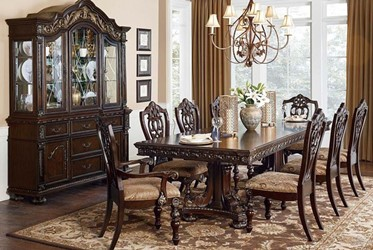 Catalonia Formal Dining Room Set in Cherry
