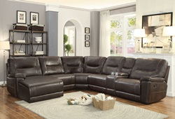 Columbus Reclining Sectional with Left Side Chaise