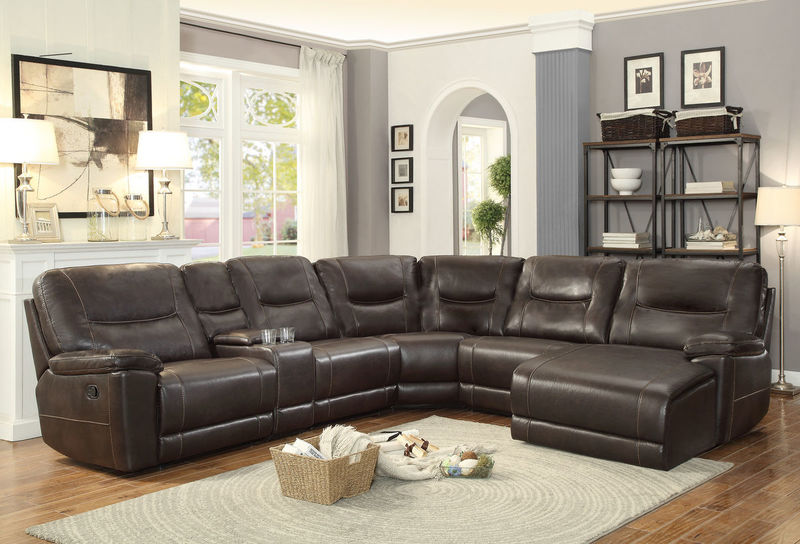 Columbus Reclining Sectional with Right Side Chaise