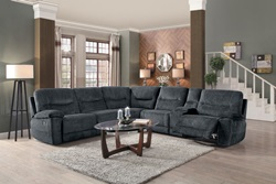 Columbus Reclining Sectional in Cobblestone