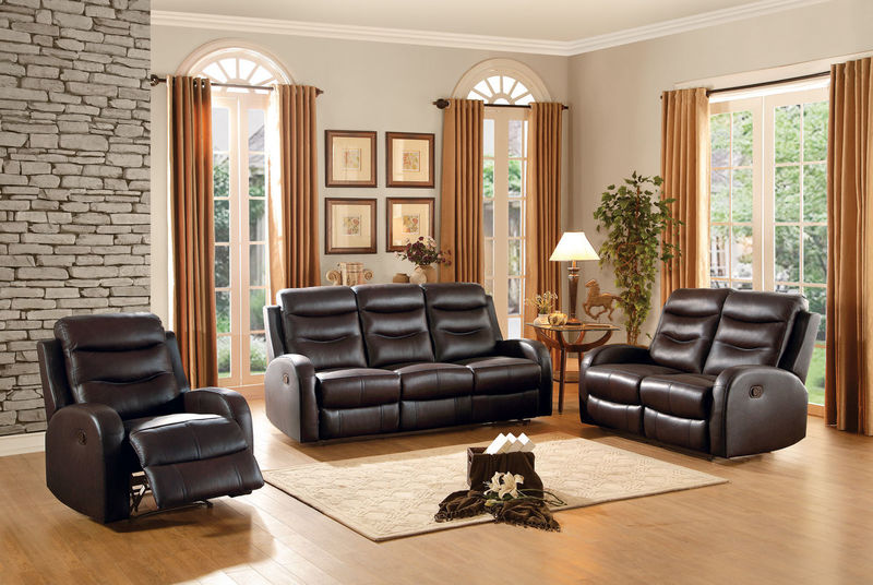 Coppins Reclining Leather Living Room Set