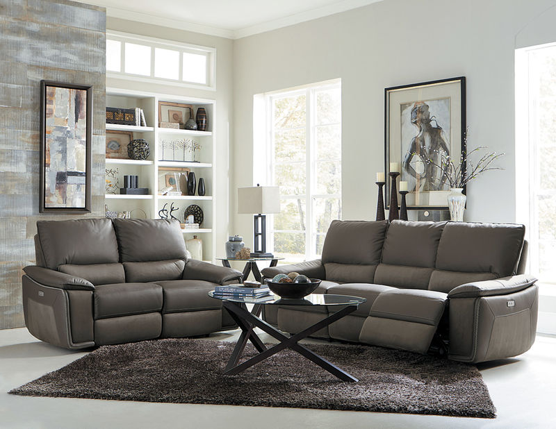 Corazon Reclining Leather Living Room Set