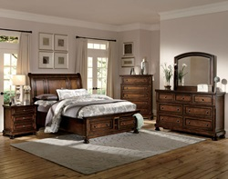 Cumberland Bedroom Set with Storage Bed
