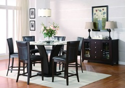 Daisy Counter Height Dining Set with Brown Chairs