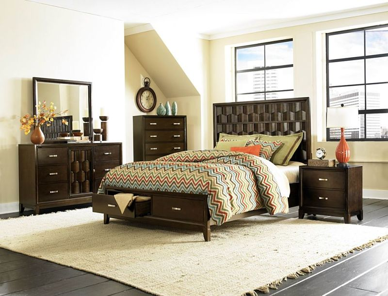 Darien Bedroom Set with Storage Bed