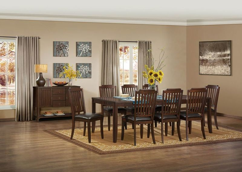 Dallas designer furniture bellagio formal dining room set with fabric upholstered chairs Dining room furniture dallas