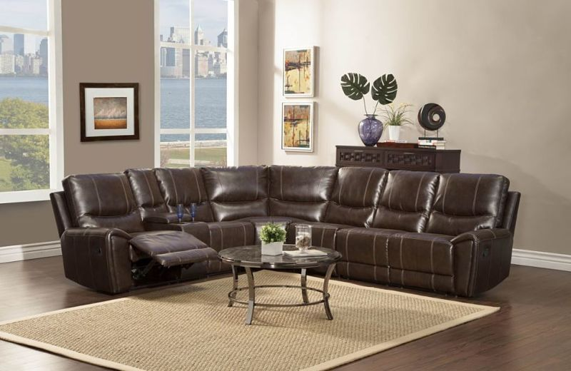 Gerald Reclining Leather Sectional