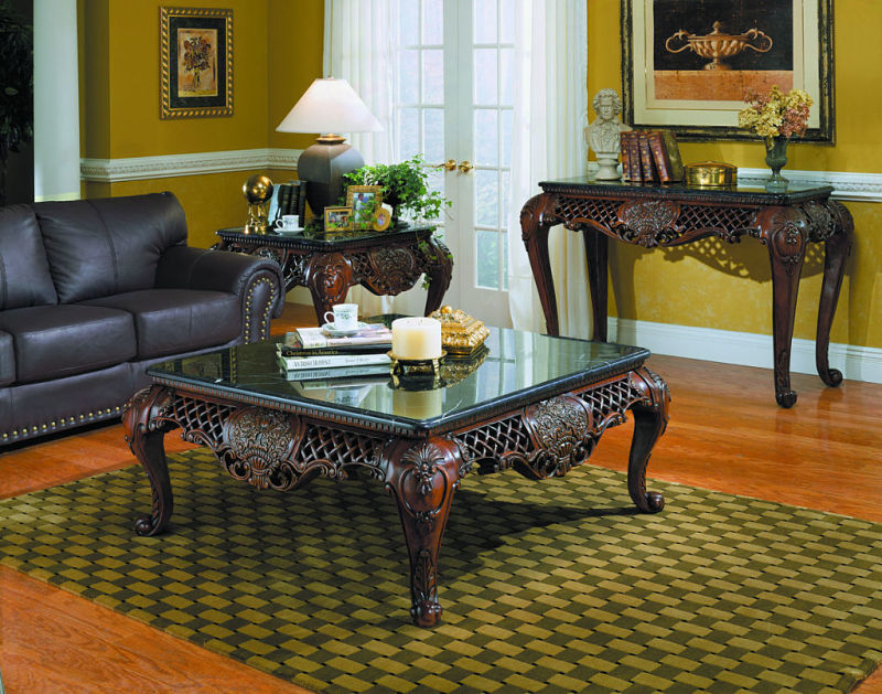 Gladstone Coffee Table Set with Marble Tops