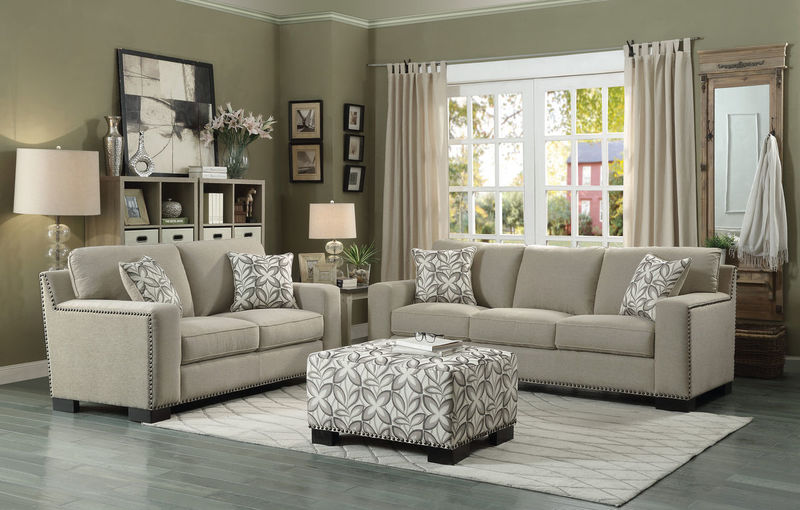 Gowan Living Room Set in Beige