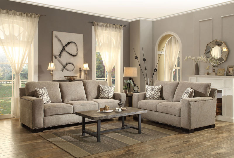 Gowan Living Room Set in Brown