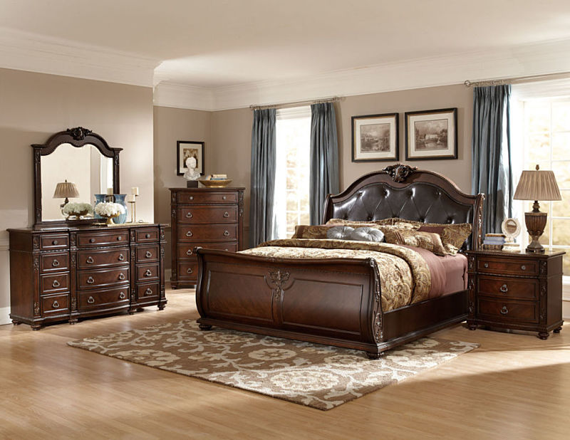 Cute Sleigh Bedroom Sets Decorating Ideas