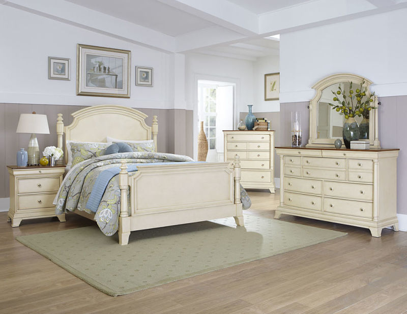 Dallas Designer Furniture | Inglewood Bedroom Set in Whitewash