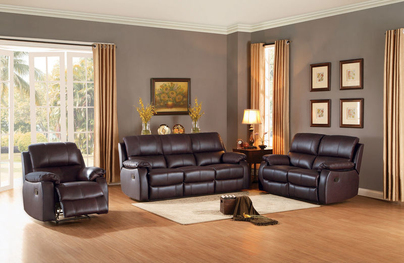 Jedidiah Reclining Leather Living Room Set