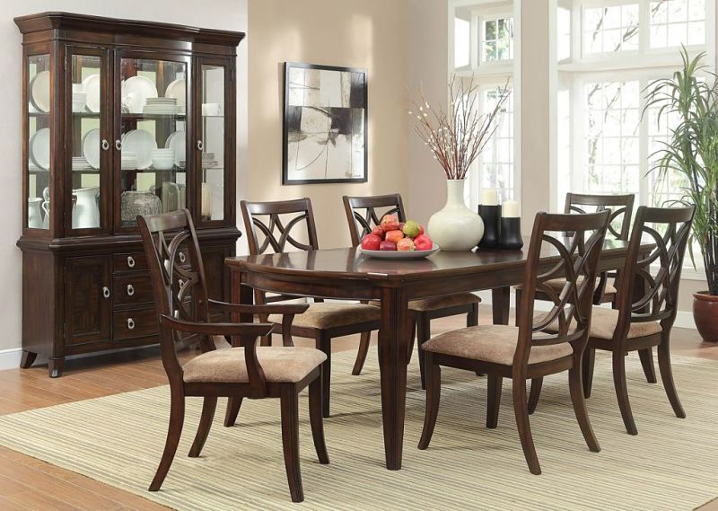 Keegan Formal Dining Room Set with Leg Table