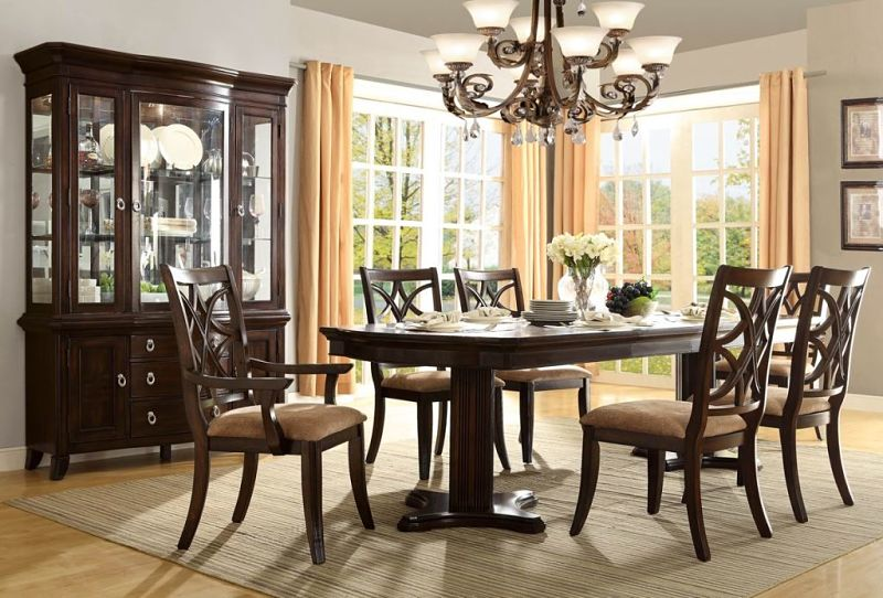formal dining room set with pedestal table keegan formal dining room
