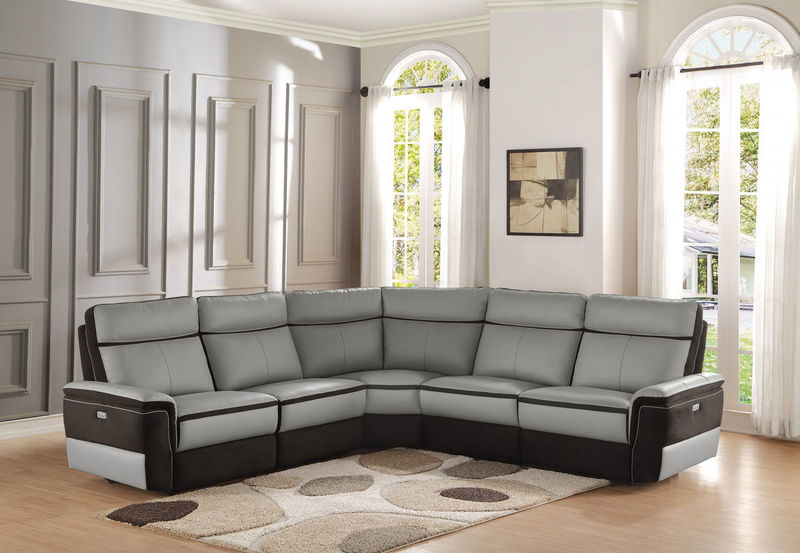 Homelegance | 8318 Laertes Reclining Leather Sectional | Dallas Designer  Furniture