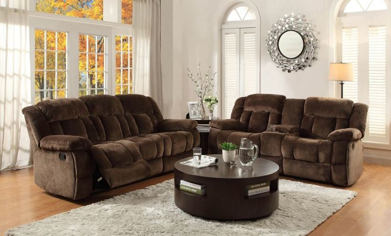 Laurelton Reclining Living Room Set in Chocolate