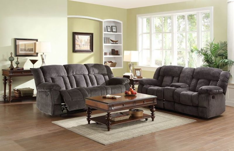 Laurelton Reclining Living Room Set in Charcoal