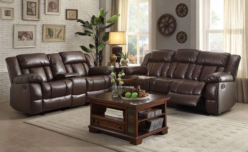 Laurelton Reclining Leather Living Room Set