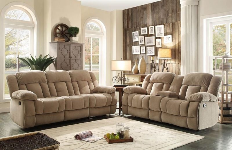 Laurelton Reclining Living Room Set in Taupe