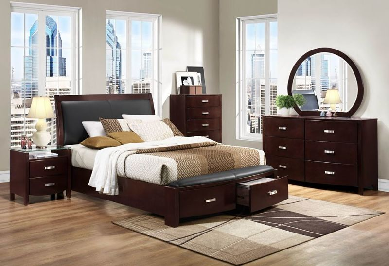 Lyric Bedroom Set with Storage Bed in Espresso