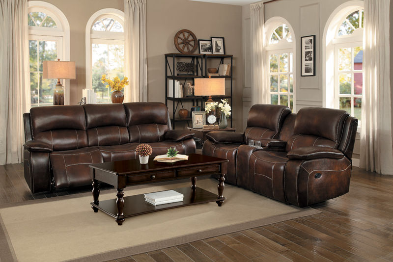 Mahala Reclining Leather Living Room Set