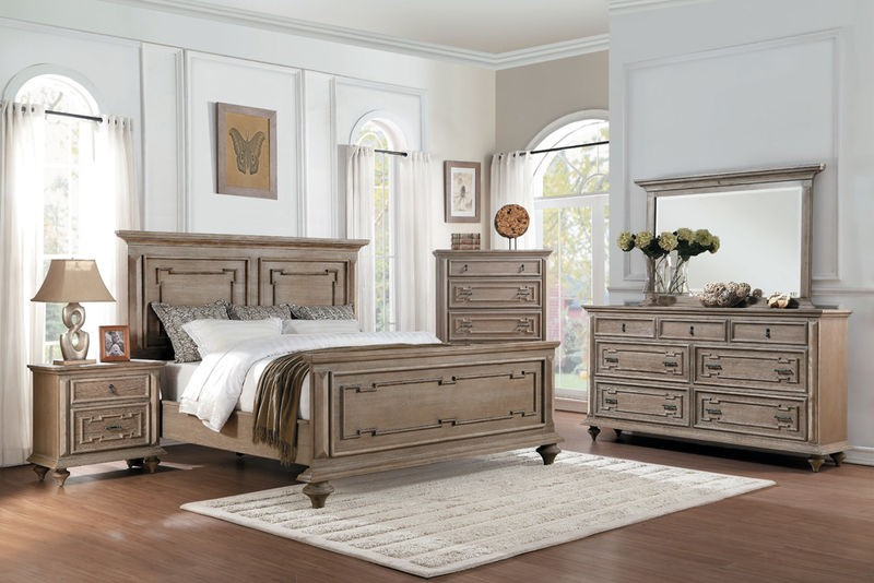 Marceline Bedroom Set in Water-Based Gray