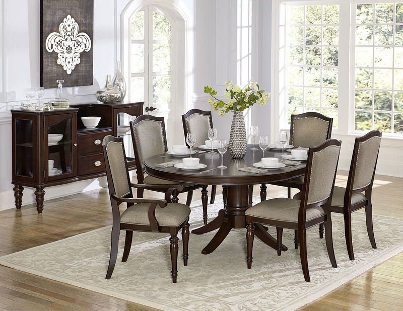 Marston Formal Dining Room Set with Oval Table