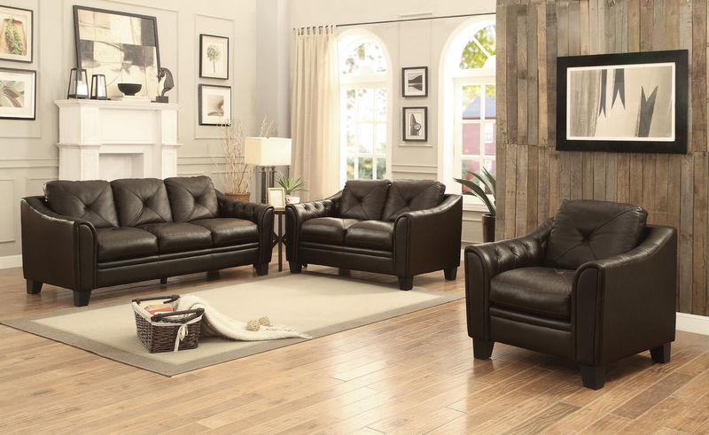 Memphis Leather Living Room Set